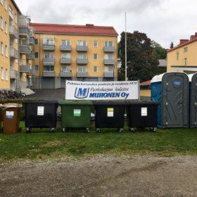 WC-vuokraus taloyhtiöille Punkaharjun Kuljetus Muhonen Oy